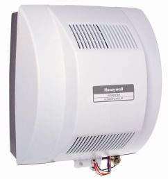 best for large homes honeywell powered flow through whole house humidifier [ 1000 x 1000 Pixel ]