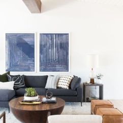 Mid Century Modern Living Room Light Grey Walls White Trim 9 Easy Decor Diys
