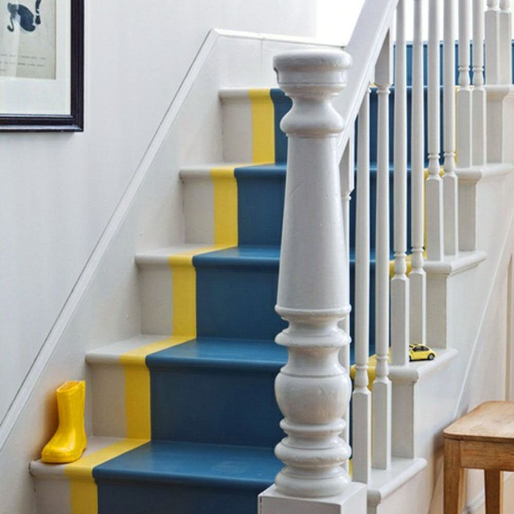 22 Gorgeous Painted Stair Ideas | Multi Coloured Stair Carpet | American Style | Candy Stripe | Interior Design | Textured | Residence