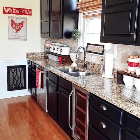 kitchen refinishing ideas types of flooring pros and cons painted cabinet black milk cabinets