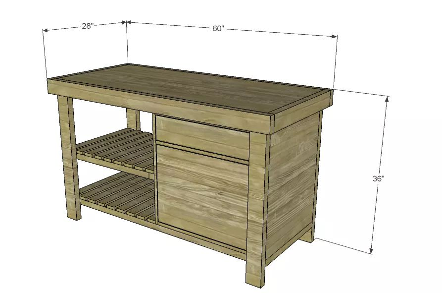 planning a kitchen island showrooms sacramento 15 free diy plans diagram for