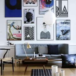 Ideas For Living Room Wall Art Corner Cabinets 25 Great Design Gallery Walls