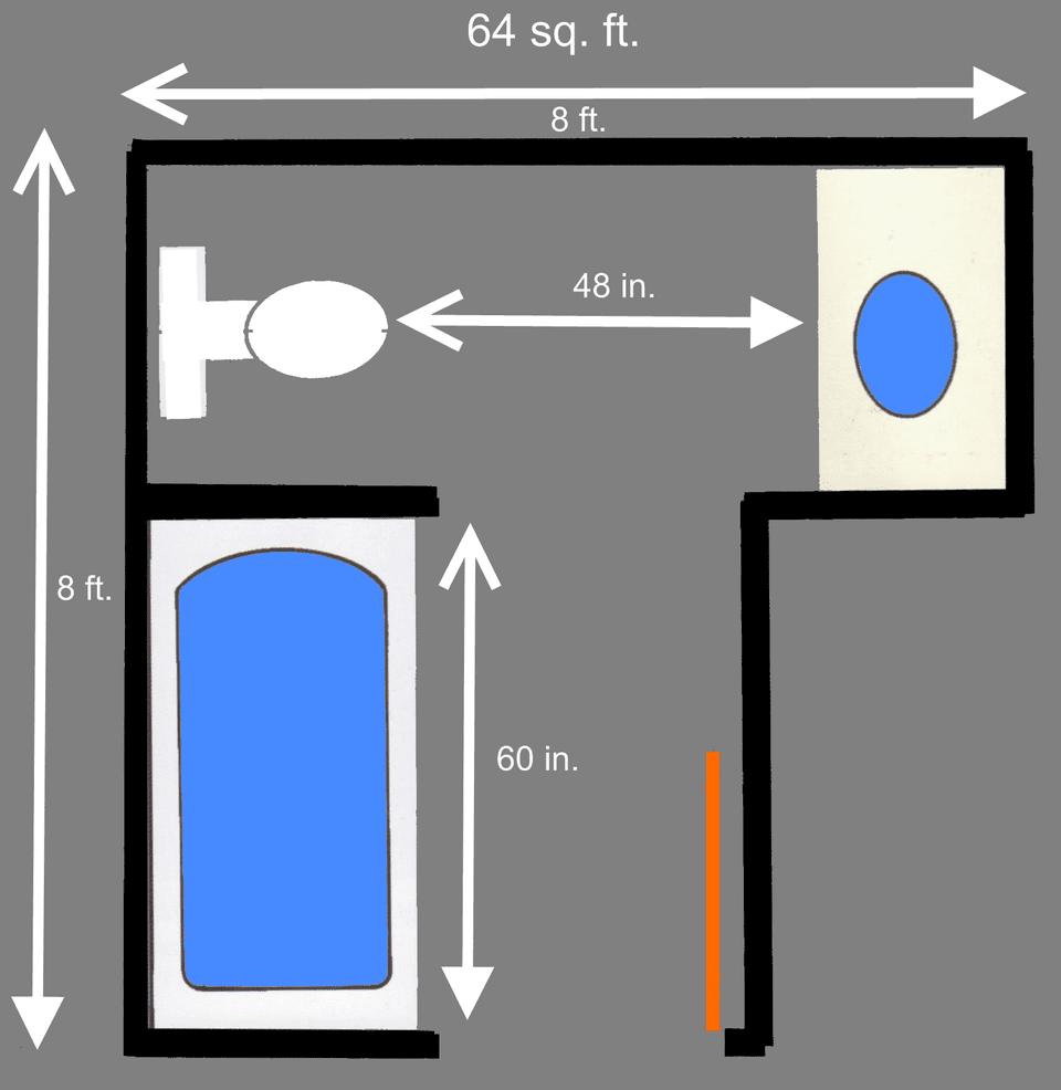 Best Kitchen Gallery: 15 Free S Le Bathroom Floor Plans Small To Large of 8x8 Bathroom Floor Plans on rachelxblog.com