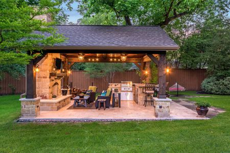 outdoor kitchens semi custom kitchen cabinets reviews 50 enviable for every yard