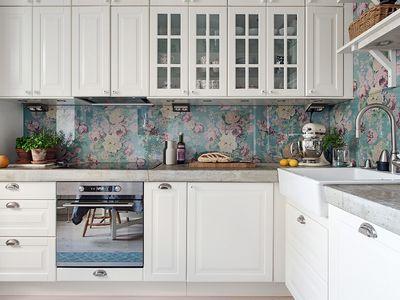 kitchen backsplash design bronze faucet 30 amazing ideas for backsplashes make over your rental with a removable