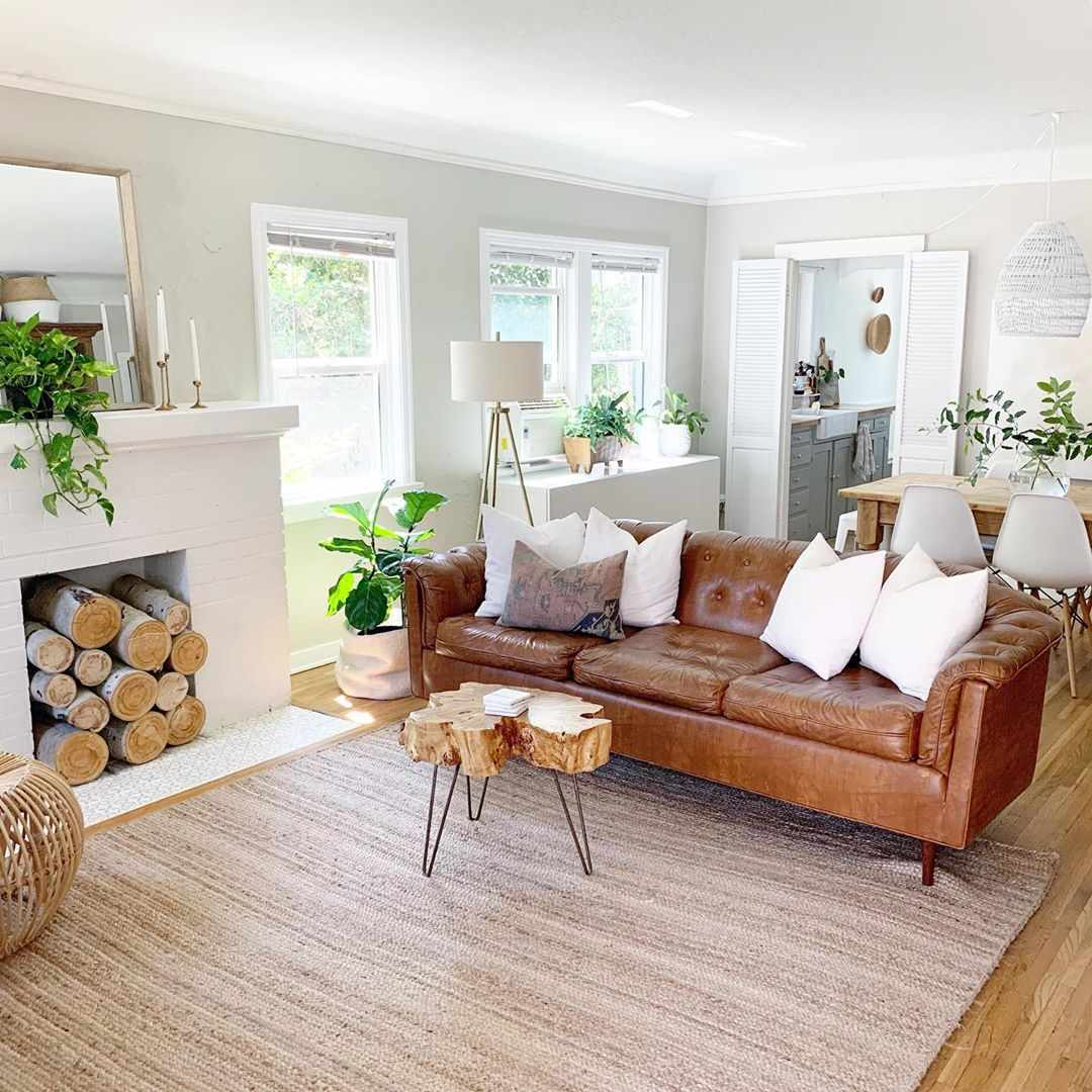 Brown Living Rooms That Prove It S A Pretty Hue