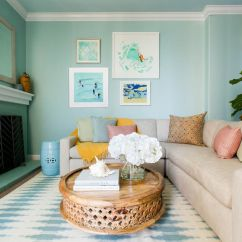 House Of Turquoise Living Room Rug For 22 Ways To Decorate With Coastal Colors