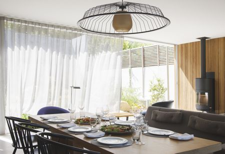 modern living room curtains interiors indian style how to soften your dining with or drapes