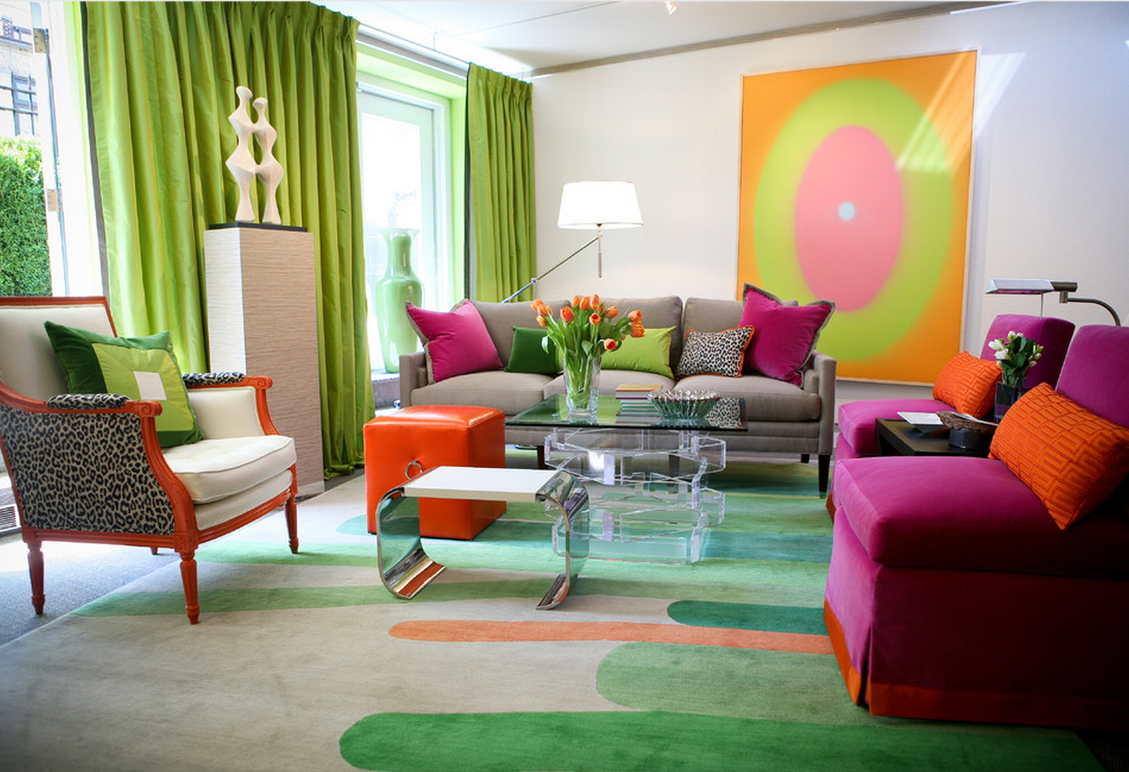 21 colorful living room