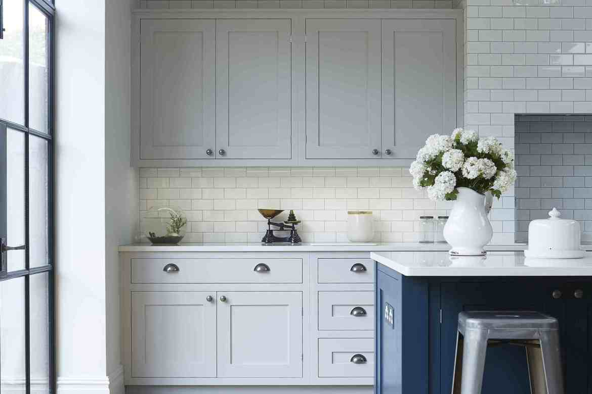 Two Tone Kitchen Cabinets and Island