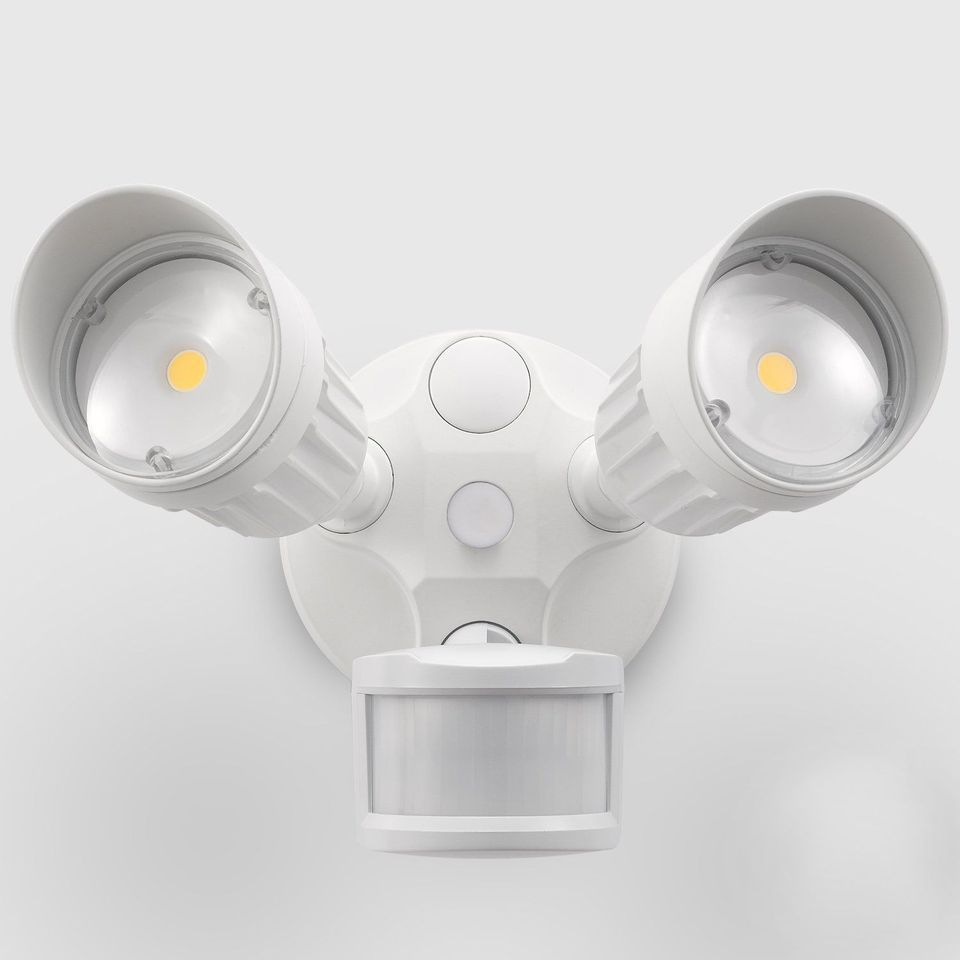 hight resolution of 20w dual head motion activated led outdoor security light photo sensor 3 modes
