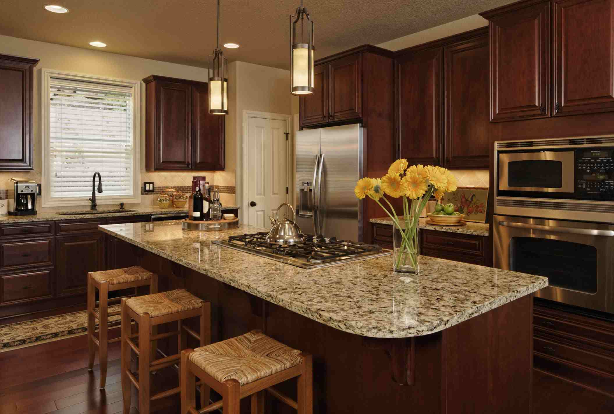 kitchen counter tops rooster statue for top 10 materials countertops custom with granite slab