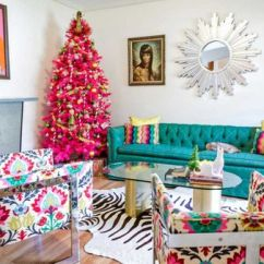 Lime Green And Red Living Room Ideas Bay Window The Latest Christmas Decorating Color Schemes Retro Hot Pink Holiday Decor