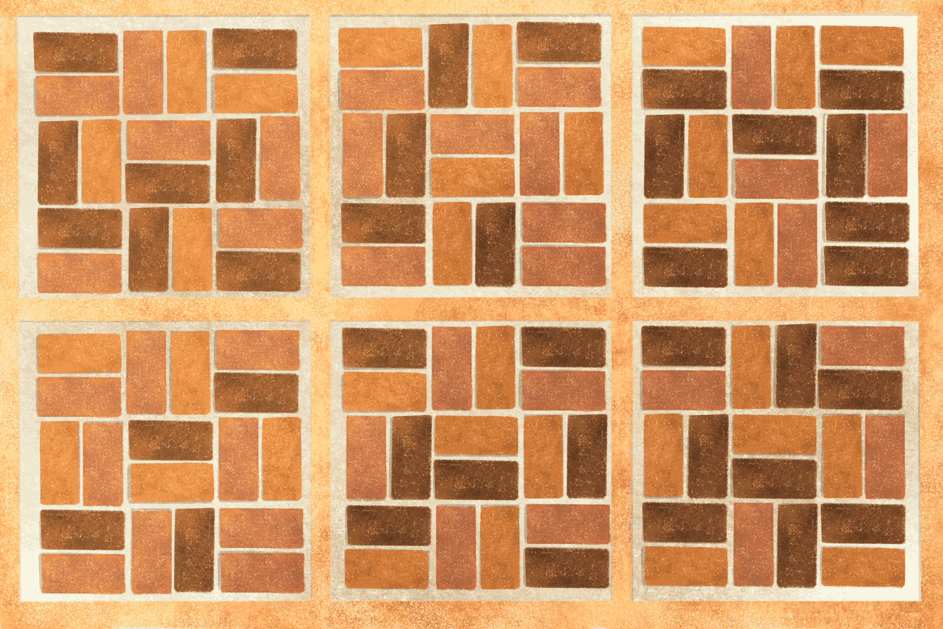 basic brick patterns for patios and paths