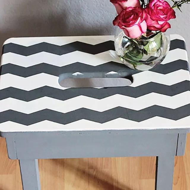 chalk paint stool