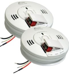 best set kidde firex hardwire smoke and carbon monoxide combination detector 2 pack [ 1000 x 1000 Pixel ]
