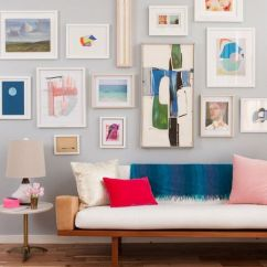 Wall Frames For Living Room Sears Furniture Canada 25 Great Design Ideas Gallery Walls With Of Different Heights