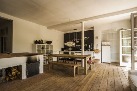 flooring living room kitchen feng shui small gorgeous kitchens with wooden rustic wide plank