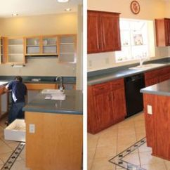 Kitchen Refacing Cabinet Organization How Works The Basic Process