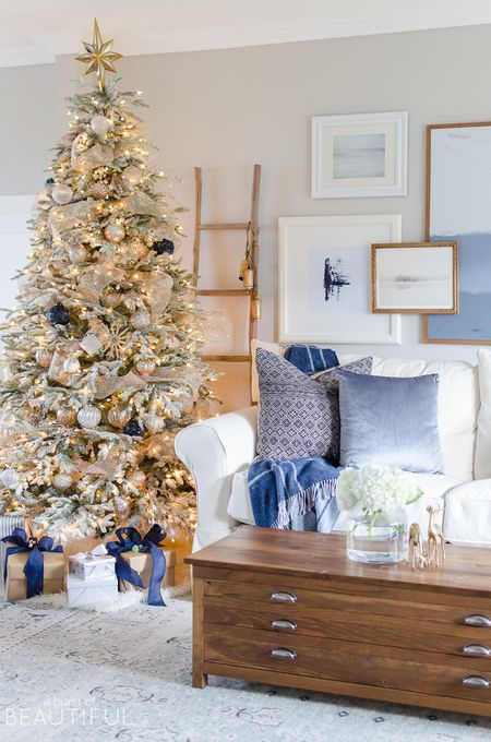 images of christmas living room decorations wall murals for india 21 beautiful ways to decorate the blue decorated with