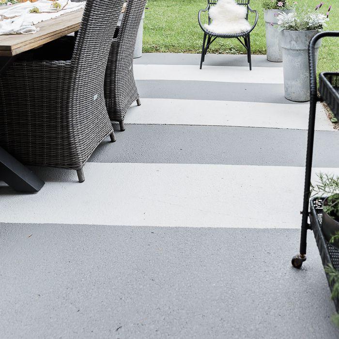 15 painted concrete patio designs