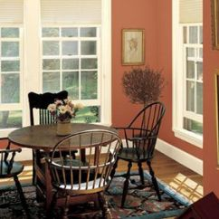 Brown Paint Living Room Pictures Ready Made Curtains Color Ideas Dining With Red Tone