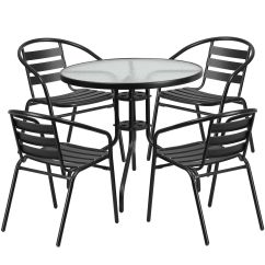 Metal Chairs And Table Chair Covers Uk Wholesale 9 Best Patio Dining Sets For 2019 Budget Flash Furniture Round Glass With