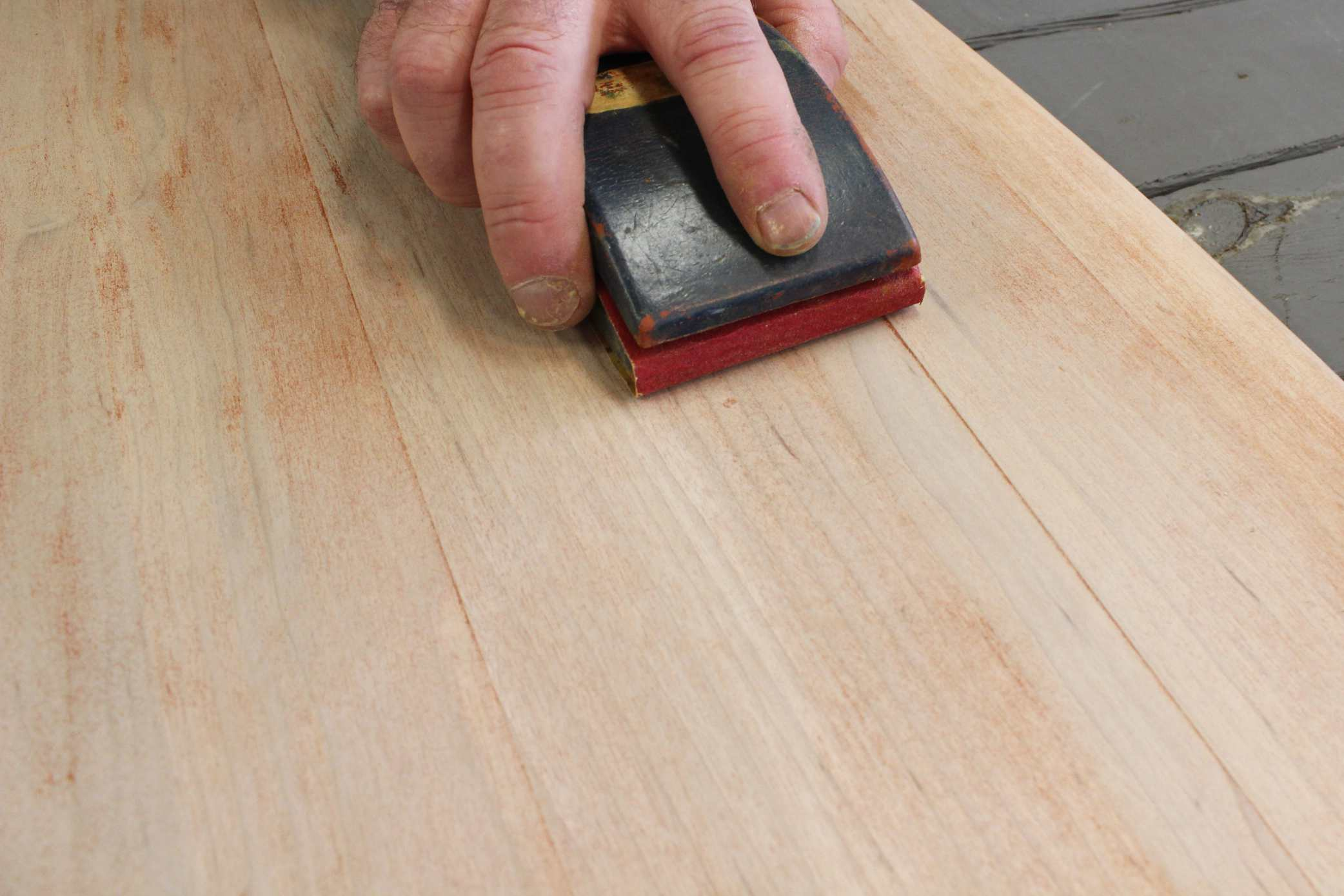 Sanding Off Stain And Varnish