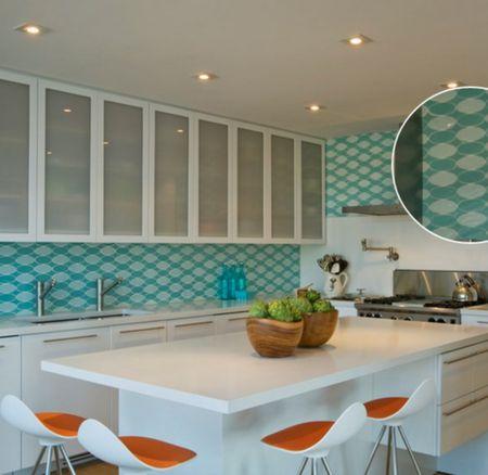 ceramic tiles for kitchen small corner table 30 amazing design ideas backsplashes oval
