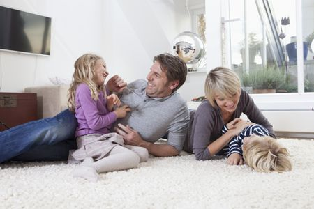 best living room carpet layout two loveseats how to choose the for a family on