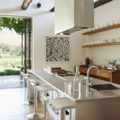 Island Kitchen Best Cabinet Cleaner How To Set Up Plumbing For A Sink In Modern Overlooking Patio And Vineyard