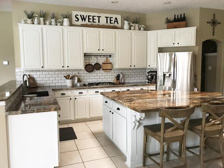 how to decorate your kitchen remodeling buffalo ny 10 ways above cabinets display a meaningful collection