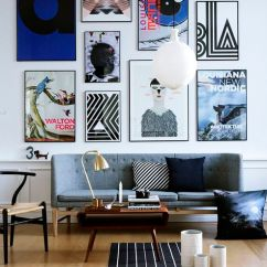 Living Room Art Wall Sectionals For Small Spaces 25 Great Design Ideas Gallery Walls