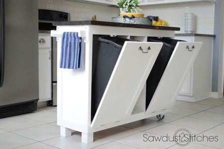 small kitchen island faucets costco 15 ideas diy with trash cans