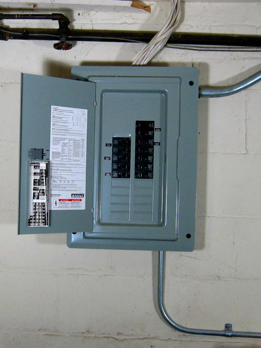 medium resolution of garage electrical service panel