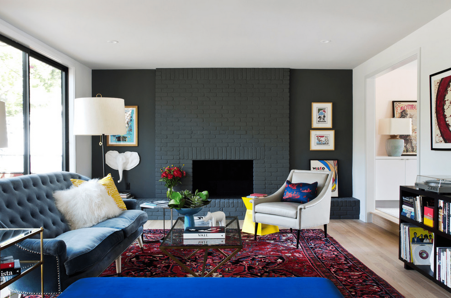 small living room ideas with brick fireplace gray couch 20 beautiful rooms fireplaces