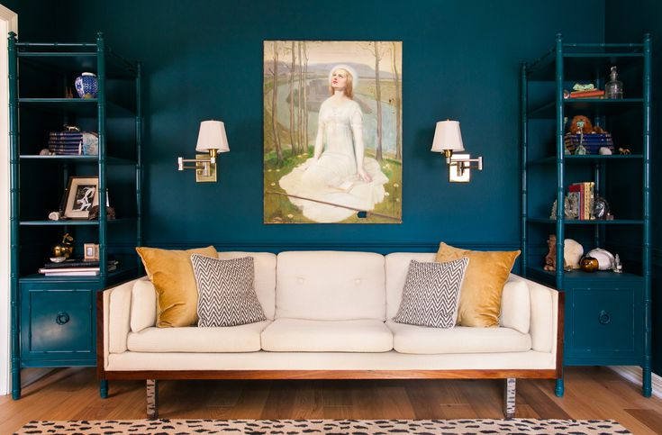 blue walls living room new colours for rooms ideas