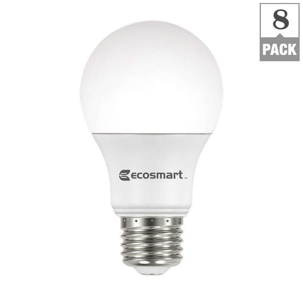 best led light bulbs for living room couches a small the 7 bathrooms 2019 overall ecosmart 60 watt equivalent a19 non dimmable basic bulb