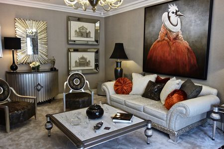 home interior design for living room most comfortable chair 17 beautiful small rooms that work ornate in silver tones with orange accents david long