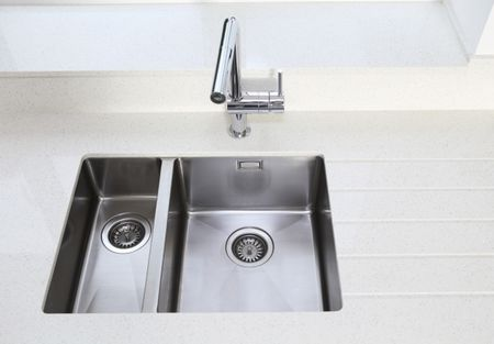 under mount kitchen sink commercial shelving the importance of caulking with undermount sinks stainless steel and tile counter