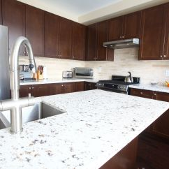 Kitchen Granite Countertops Cost Cabinets Dayton Ohio Solid Surface Vs. Quartz Countertop