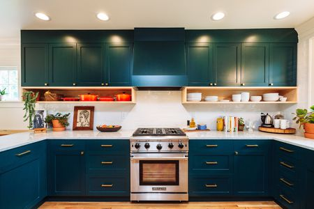 colors for kitchens ikea corner kitchen cabinet 26 paint ideas you can easily copy teal cabinets that change color with light