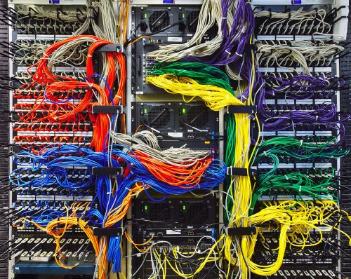 small resolution of colorful computer wires in server room