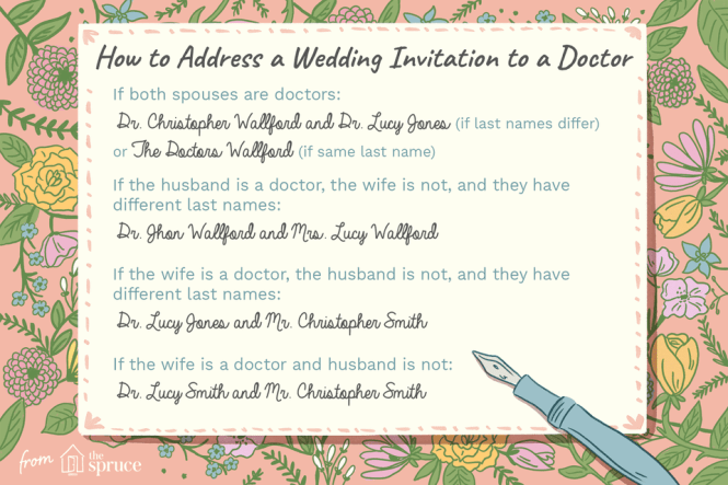 Proper Etiquette For Addressing A Wedding Invitation To Doctor