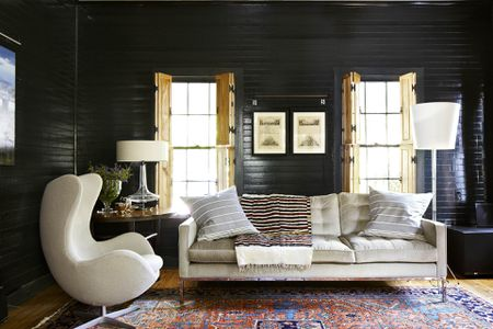 paint ideas for living room with black furniture staging 20 gorgeous color schemes every taste forest green and cream modern rustic