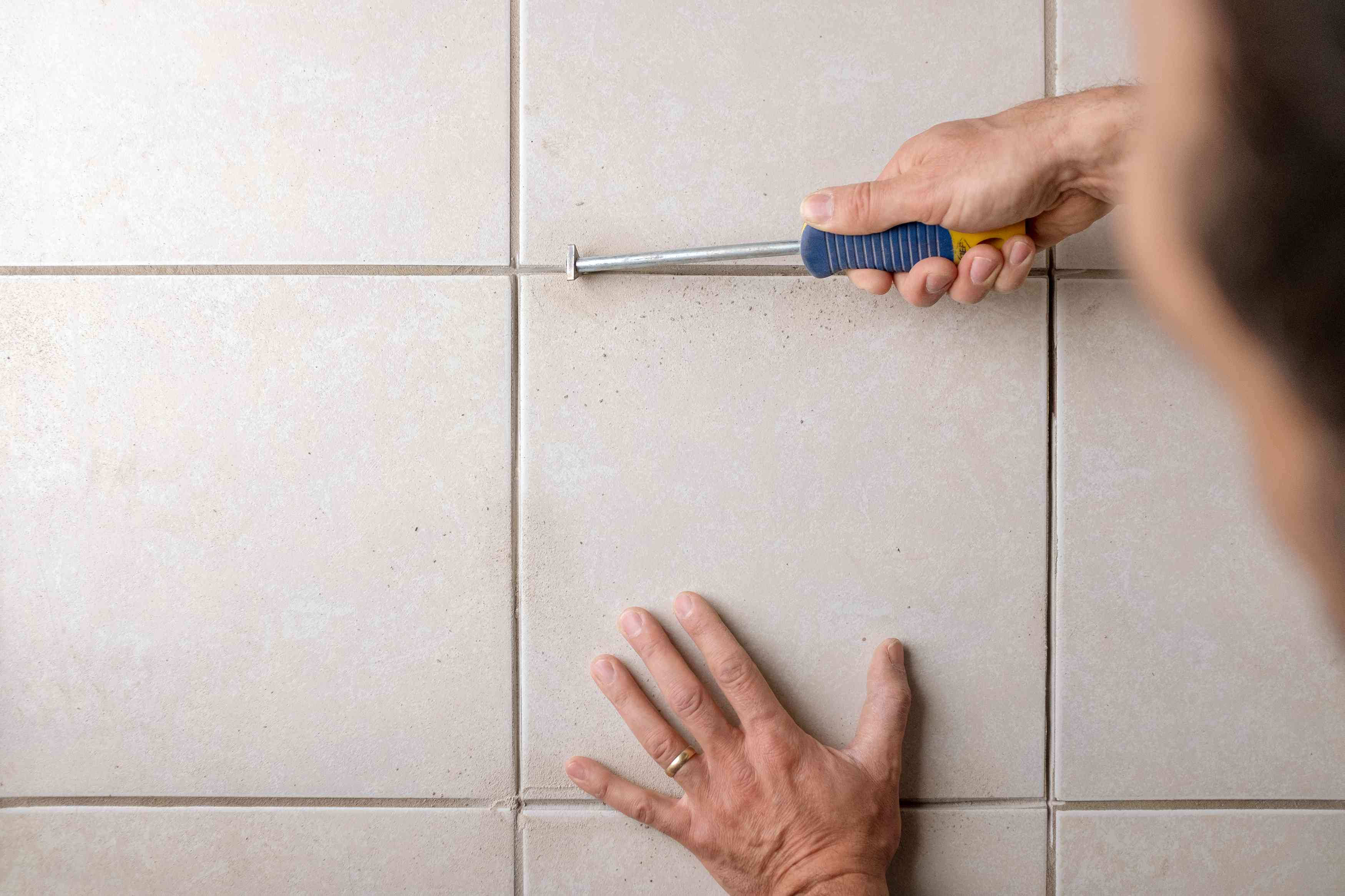 how to regrout ceramic tile