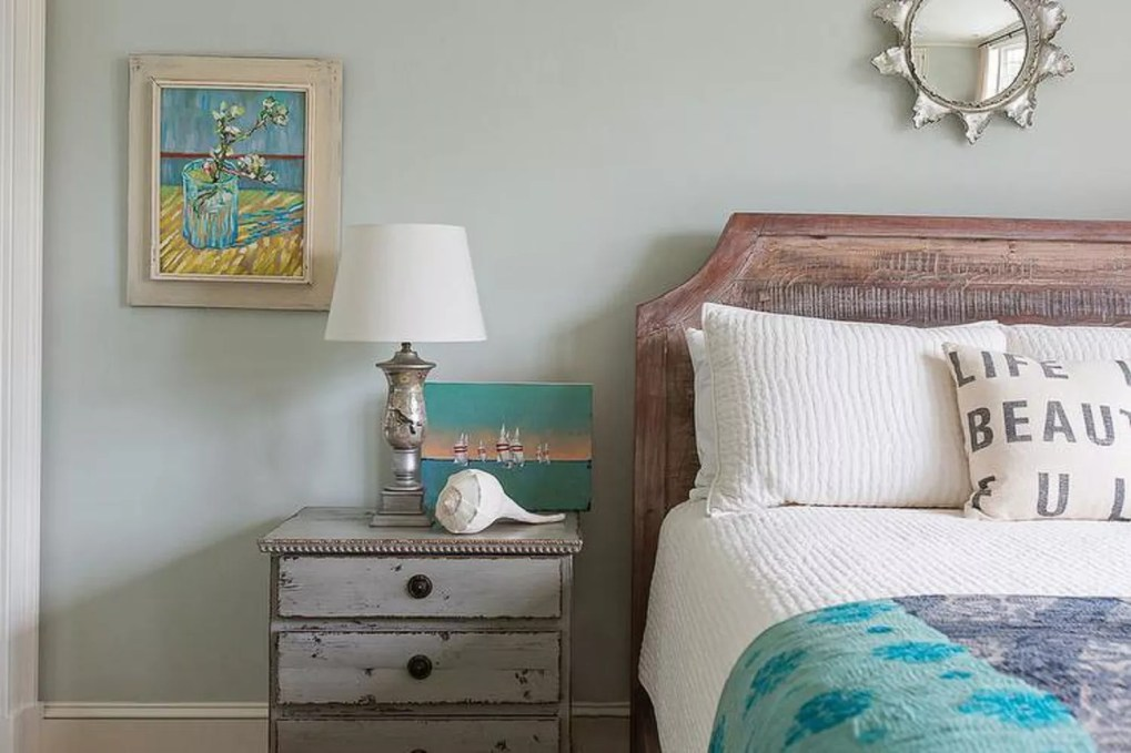 Distressed furniture beach bedroom