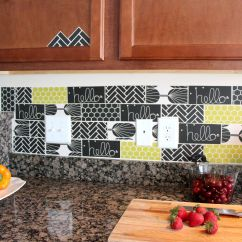 Wallpaper For Kitchen Lowes Cabinets In Stock 13 Removable Backsplash Ideas
