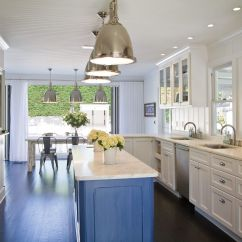 Blue Kitchen Island Remodeling Small Beautiful Cabinet Ideas