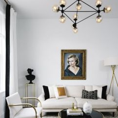 Black And White Living Rooms Room Ideas Gray Yellow Home Makeover An Interior Designer S Glam Denver Gold Modern